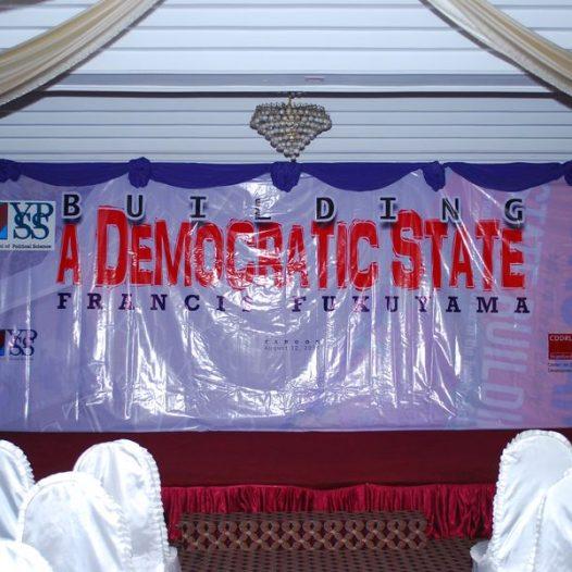 Francis Fukuyama talk on Bulilding a Democratic State