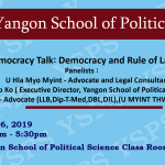 Democracy Talk: Democracy and Rule of Law